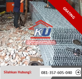 Distributor Grating Surabaya Ukuran Standart L 90cm P 6m Ready Stock