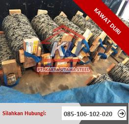 Harga Kawat Duri High Carbon (Hica) Lapis Benzinal Anti Karat 100m/Roll