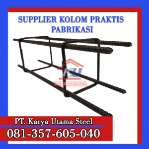 Harga Tulangan Dinding Kolom Praktis Beton Surabaya Ready Panjang 3M Uk 80 x 80