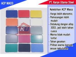 Harga ACP Maco Tebal 4mm Ready Stock PVDF Surabaya