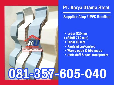 Supplier Distributor Atap UPVC Rooftop Transparan Surabaya Murah