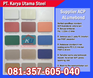 Supplier ACP Surabaya Merk Alumebond Murah