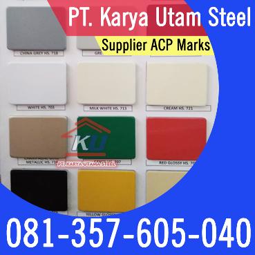 Supplier ACP Aluinium Composite Paner Murah Merk Marks 4mm Surabaya