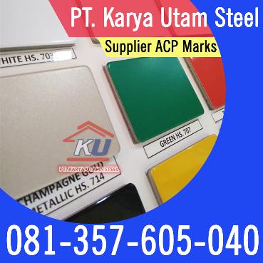 Panel Warna Aluminium ACP Marks Untuk Dinding Perkantoran Dan Perabotan Rumah