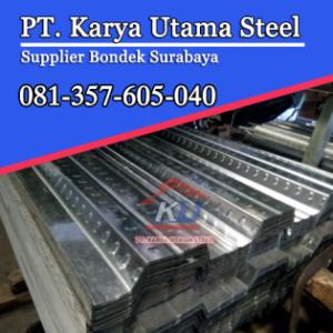Supplier Jual Bondek Pengecoran Tebal 0,75 mm Panjang 6 Meter Ready Stock Gudang Sidoarjo Surabaya