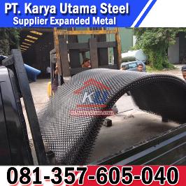 Supplier Jual Expanded Metal Jenis Gridmesh Untuk Lantai Pijakan Ram Pintu Jendela Surabaya Murah