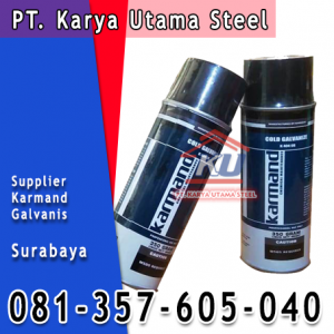 Supplier Jual Cat besi Galvanis Semprot Surabaya Karmand Cold Galvanize
