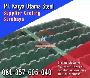 Jual Grating Steel Besi Penutup Saluran Air Drainase Surabaya Murah