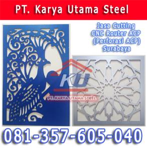 Jasa Cutting CNC Router ACP Surabaya Murah Untuk Aluminium Composite Panel Fasad Dinding Bangunan