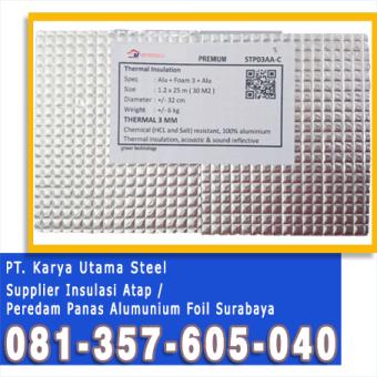Jual Alumunium Foil Surabaya Sidoarjo Murah Atap Peredam Panas
