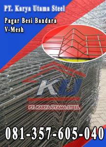 Agen Pagar Besi Surabaya Khusus Untuk Bandara Tinggi 2 M Galvanis Hotdip Surabaya