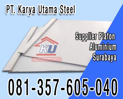 Jual Plafon Minimalis Aluminium Surabaya Untuk Langit-langit Rumah Hotel Perkantoran Maupun SPBU